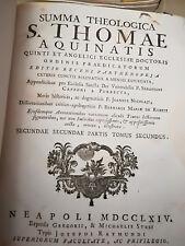 SUMMA THEOGICA S.THOMAE AQUINATIS NEAPOLI 1768 OPERA COMPLETA