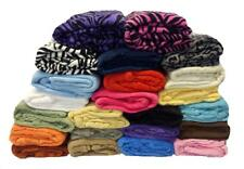 Super Soft Solid Fleece Throw Blanket Over 20 Colors - Twin Size