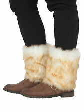 Women Ladies Winter Warm Faux Fur Leg Warmer Boot Sleeve Covers Stocking