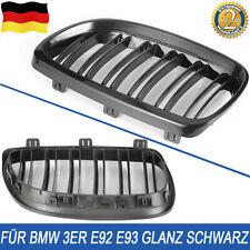 Sport Kühlergrill Nieren Doppelsteg Schwarz Glanz FÜR DEN BMW 3ER E92 E93 06-10