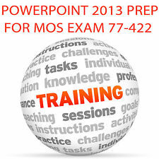 POWERPOINT 2013 for MOS Certification Exam 77-422 - Video Training Tutorial DVD