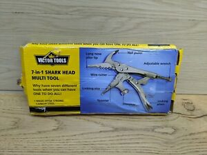 VICTOR TOOLS 7-in-1 Shark Head Multi-Tool - Hammer/Spanner/Cutter/Pliers/Wrench