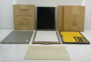 "X-Ray Cassette Grid Lot x7 8x10"", Wolf, Kodak, Halsey Etc. Some NOS"