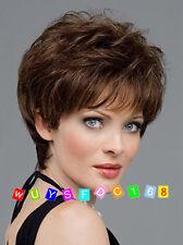 Fashion wig New sexy women's short Dark Brown Natural Hair wigs / Wig cap