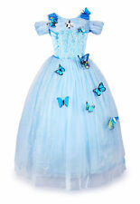 Cinderella Dress Princess Girls Outfit Cosplay Costume Party Fancy Disney Dress