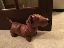 Dachshund Cute Sausage Dog Doorstop Heavy Animal Puppy Faux Leather Door Wedge