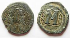 Zurqieh -Aa7279- Byzantine. Justin Ii & Sophia Ae Follis. Antioch