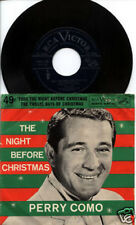 PERRY COMO The Night Before Christmas 45 & PS PICTURE SLEEVE