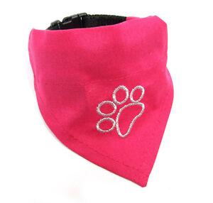 Hundehalstuch mit Halsband 2 in 1 ** TATZE PINK **Halstuch für Hunde
