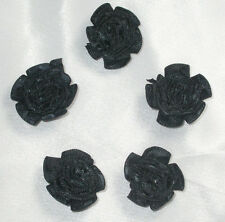 """Polyester Satin Ribbon Cabbage Roses 1""""  20 Pieces USA SELLER"""
