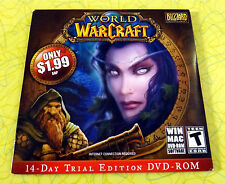 World of WarCraft 14-Day Trial Edition DVD-ROM ~ New Rare PC/Mac Version