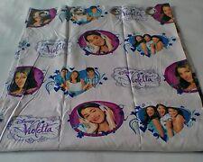 Tenda Disney Violetta confezionata con 8 borchie 140x290 cm Col. Rosa A019