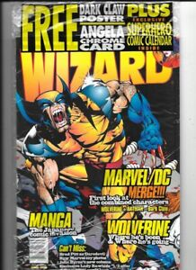 5 ISSUES WIZARD COMIC BOOK MAGAZINE SEALED NEW 1997-1999 WOLVERINE