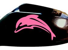 Dolphin Car Sticker Wing Mirror Styling Decals (Set of 2), Pink