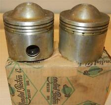 "1959 Matchless G12 650cc NOS 72mm +.100"" Italian Mondial #4394 PAIR pistons -112"