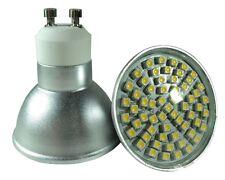 10 Ampoules à 60 Led SMD GU10 4W 230V Blanc Chaud, Angle de diffusion 120°