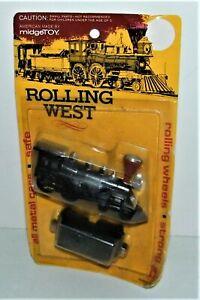Vintage Midgetoy RARE Rolling West 2 Piece Set #950 New Steam Locomotive &Tender
