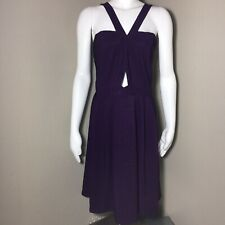Forever 21+ Women's 2x Plus Size Dress V Neck Straps Purple Keyhole Front Detail