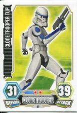 Star Wars Force Attax Series 3 Card #57 Clone Trooper Tup