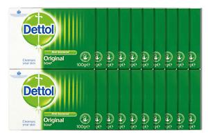 22 x Dettol Antibacterial Bar Soap Original [11 Twin Packs] 100g