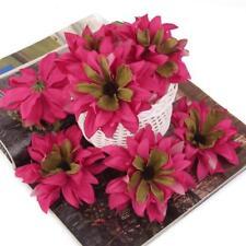 20pcs Gerbera Daisy Heads Artificial Silk Flowers Corsage Decor DIY Rose Red