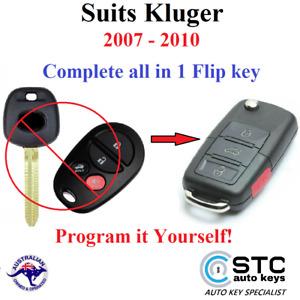 SUITS TOYOTA KLUGER REMOTE TRANSPONDER FLIP KEY FOB 2007 2008 2009 2010