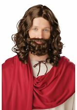 California Costumes Collections 70754 Jesus Wig And Beard (Brown;One Size)