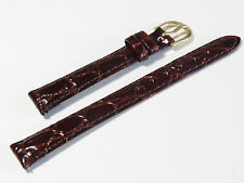 SPIEDEL EXPRESS 13MM BROWN PADDED CROCO GRAIN LEATHER BAND TX45313HN