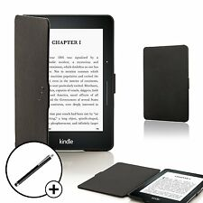 Black Smart Shell Case Cover Wallet Amazon Kindle Voyage and Free Stylus