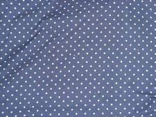 Handmade 100%cotton2pc. crib sheet set Navy w/white dots/Neutral