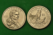 2013- P&D BU Mint State (Native American/Sacagawea) US One Dollars (2 Coins)