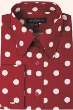 100% cotton men's dress shirt Big Polka Dot Spread Collar By George AH 616