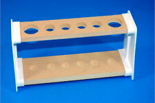 Six Hole Boiling / Test Tube Rack / Stand / Holder, Wood & Plastic Frame