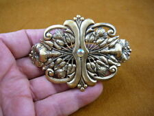 CB-FLO-15 FLOWER hibiscus brass flowers Barrettes French barrette holds hair