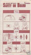 Safety Card - Generic - SF 340 - Rust Red Ver (S2134)