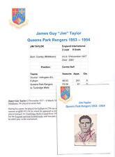 JIM TAYLOR QUEENS PARK RANGERS 1953-1954 RARE ORIGINAL HAND SIGNED PICTURE