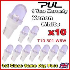 10 x White T10 501 W5W LED Sidelight Bulbs / Interior / Number Plate LEDS
