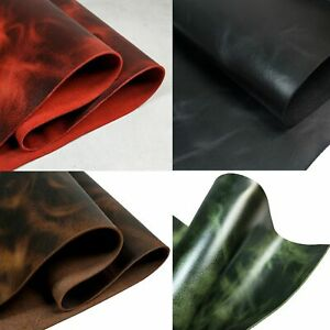 Full Grain Waxed Cowhide Leather for DIY Journals Leathercrafts Laces Jewelry