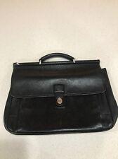 COACH 5266 BEEKMAN Black Leather Briefcase Messenger Bag Computer Bag