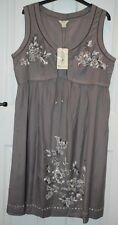 Monsoon Rajasthan Sleeveless Embroidered Button Beaded Grey Dress 16