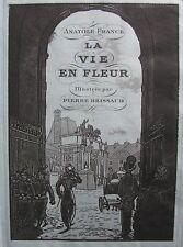 LA VIE EN FLEUR 1924 ANATOLE FRANCE PIERRE BRISSAUD POCHOIR ENGR FIRST EDIT
