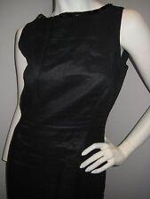 Zara Women's Beautiful Black Dress Size L, 40'' knee long, Ramie (Linen like)
