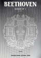 BEETHOVEN Sonate n°1- Op.2 n°1- Urtext- Henry Lemoine- NEW