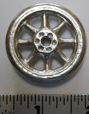 """Replacement cast metal spoked wheel for Arcade vehicle 1 3/8 """"  diameter"""