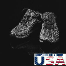 """1/6 Sneakers Running Shoes BLACK For 12"""" Hot Toys Phicen Male Female Figure USA"""