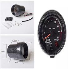 """12V 3.75"""" Car Tachometer Gauge Carbon Fiber Pattern LED Backlight 0-8000 RPM"""