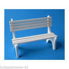 creal 30851 Banc de jardin blanc bois 1:12 pour la maison de poupées NEUF ! #