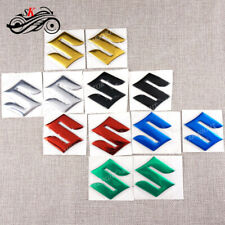 "6 Colors Motorcycle Emblem Sticker Decals Fuel Gas Tank Pad For Suzuki ""S"" Logo"