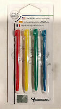 Subsonic Anti-Scratch Stylus 4-Pack for DS Lite/DSi XL/DSi Red Yellow Green Blue