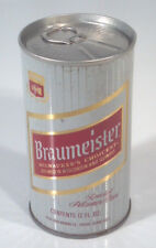 Vintage Braumeister Beer 12oz Can Straight Steel Milwaukee WI Chicago Peter Hand